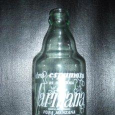 Botellas antiguas: BONITA Y RARA BOTELLA DE SIDRA MARIÑANA,, CHAMPANERA CANTABRICA, LA CORUÑA. Lote 27473477