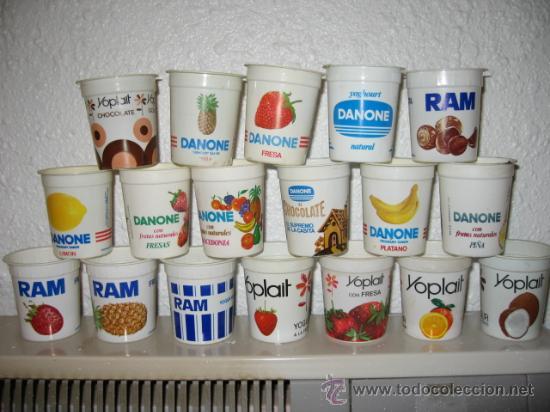 Lote de 18 envases o vasos de yogurt distintos comprar - Vasos para yogurt ...