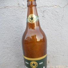 Botellas antiguas: ANTIGUA BOTELLA DE CERVEZA ESTRELLA DE LEVANTE ETIQUETA EN PAPEL. 1 LITRO.. Lote 28074381