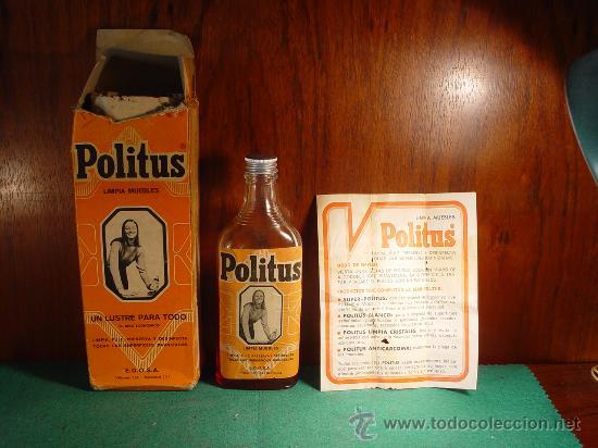 Politus limpia muebles frasco antiguo drogu comprar for Muebles antiguos barcelona