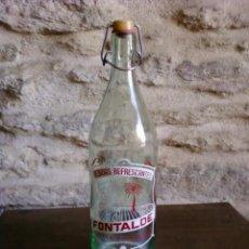 Botellas antiguas: BOTELLA DE GASEOSA BEBIDAS REFRESCANTES FONTALDE DE PUEBLA DE SAN JULIAN (LUGO). Lote 28851296