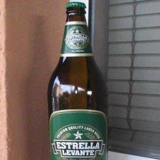 Botellas antiguas: BOTELLA DE CERVEZA ESTRELLA DE LEVANTE. 1 LITRO ETIQUETA PAPEL. Lote 28915855
