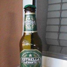 Botellas antiguas: BOTELLA DE CERVEZA ESTRELLA DE LEVANTE. 25 CC-ETIQUETA PAPEL. Lote 28915882