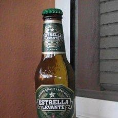 Botellas antiguas: BOTELLA DE CERVEZA ESTRELLA DE LEVANTE, ETIQUETA EN PAPEL 25 CL.. Lote 29013657