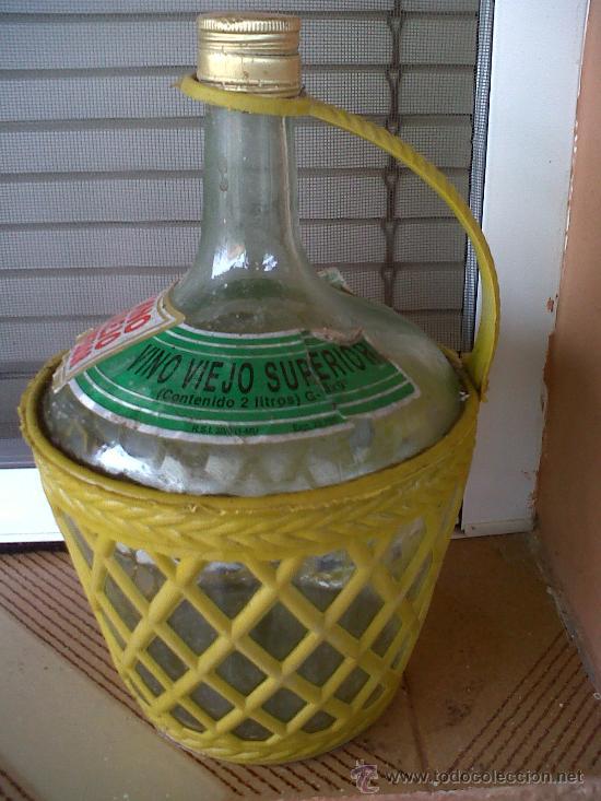 Botellas antiguas: BOTELLA DE VINO VIEJO SUPERIOR, 2 LITROS. - Foto 2 - 29028344