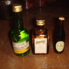 Botellas antiguas: MINI BOTELLAS DE LICOR. Lote 34003288