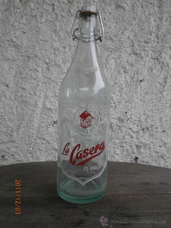 BOTELLA GASEOSA LA CASERA (Coleccionismo - Botellas y Bebidas - Botellas Antiguas)