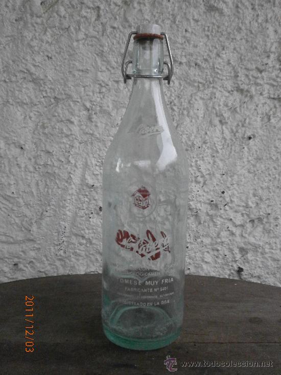 Botellas antiguas: BOTELLA GASEOSA LA CASERA - Foto 3 - 29573326