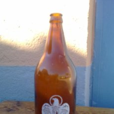 Botellas antiguas: BOTELLA DE CERVEZA EL AGUILA, SERIGRAFIADA, 1 LITRO.. Lote 29576037