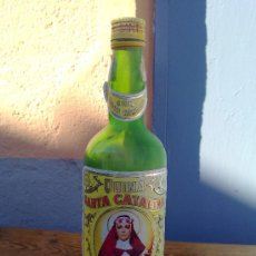 Botellas antiguas: BOTELLA DE QUINA SANTA CATALINA, ETIQUETA EN PAPEL . 1 LITRO.. Lote 29578372