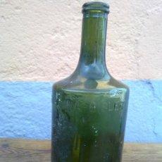 Botellas antiguas: ANTIGUA BOTELLA DE FERRO QUINA BISLERI, EN RELIEVE, 1 L ITRO. Lote 29676152