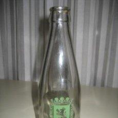 Botellas antiguas: ANTIGUA BOTELLA DE CRISTAL SERIGRAFIADA (VERDE). LECHE, BATIDOS CLUZASA. ZARAGOZA. Lote 29722652