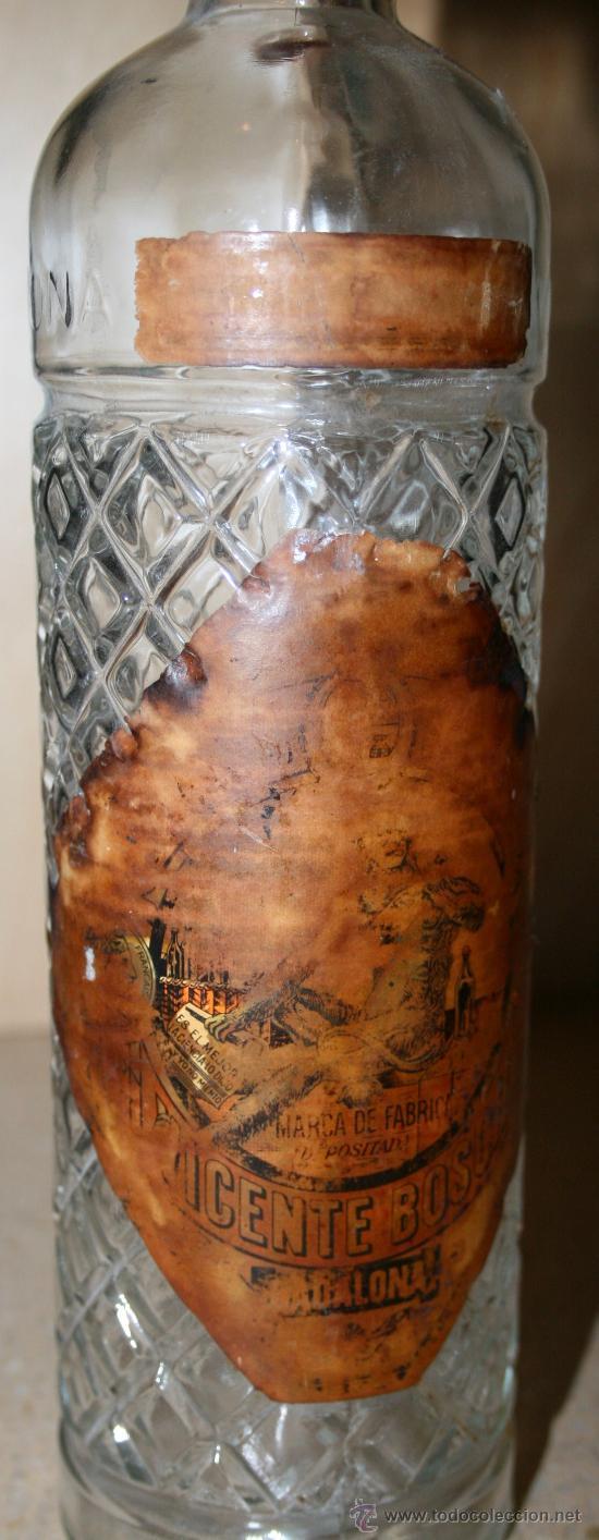 Botellas antiguas: BOTELLA VACIA DE ANÍS DEL MONO - 30 cm. - ETIQUETA REQUEMADA - Foto 3 - 29882555