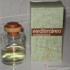 Botellas antiguas: AFTER SHAVE 100 ML MEDITERRANEO ( ANTONIO BANDERAS ) CON ALGO DE LIQUIDO AÚN . DESCATALOGADO . . Lote 30052218