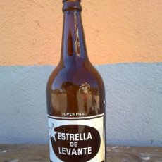 Botellas antiguas: BOTELLA DE CERVEZA ESTRELLA DE LEVANTE, 1 LITRO.. Lote 30644308