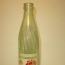 Botellas antiguas: ANTIGUA BOTELLA GASEOSA REFRESCANTES *LA ROSA ALICANTINA* LIMON, ALICANTE, ENVASE INVENDIBLE, 23 CM.. Lote 30779813