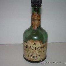 Botellas antiguas: BOTELLA DE CRISTAL VACIA.......GRAHAMS.. Lote 31127725