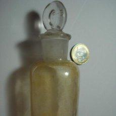 Botellas antiguas: BONITO FRASCO DE FARMACIA EN CRISTAL - 12 CM ALTURA - AÑOS 1900. Lote 31426992