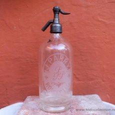 Botellas antiguas: ANTIGUO SIFÓN INGLÉS DE VIDRIO GRABADO AL ACIDO MARCA J. PARRY WORCESTER. Lote 31748624
