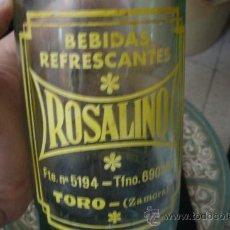 Botellas antiguas: ANTIGUA BOTELLA DE GASEOSA ROSALINO ORIGINAL DE TORO ( ZAMORA ). Lote 31963125