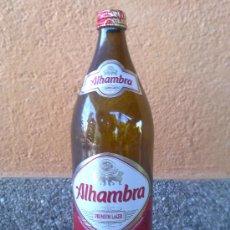 Botellas antiguas: BOTELLA DE CERVEZA, ETIQUETA DE PAPEL, ALHAMBRA, 1 LITRO. Lote 32048880