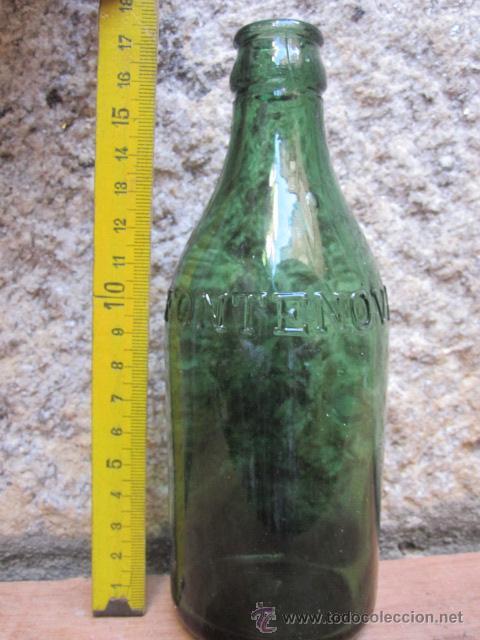 BOTELLA : AGUAS DE FONTENOVA VERIN - ORENSE - 17.5CM, MARCA EN RELIEVE, MAS IGUALES, CORREO 2.40€ + (Coleccionismo - Botellas y Bebidas - Botellas Antiguas)