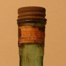 Botellas antiguas: FRUTEINA ANTIGUO MEDICAMENTO EN BOTELLA CRISTAL. Lote 32670824