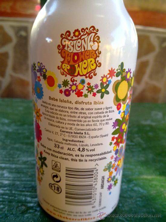 Botellas antiguas: botella de cerveza isleña, aluminio, ibiza, 33 cl. - Foto 3 - 33146217
