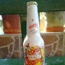Botellas antiguas: BOTELLA DE CERVEZA ISLEÑA, ALUMINIO, IBIZA, 33 CL.. Lote 33146235
