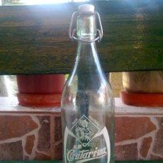 Botellas antiguas: BOTELLA DE GASEOSA LA CANTARINA, LEON. 1 LTIRO. Lote 33474610