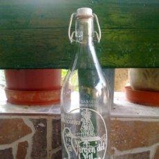 Botellas antiguas: GASEOSA LA VIRGEN DEL VILLAR, LEON. 1 LITROS.. Lote 33474709
