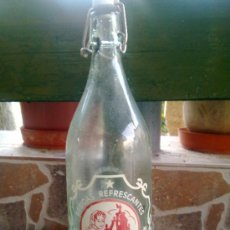 Botellas antiguas: BOTELLA DE GASEOSA LA BEMBIBRENSE, BEMBIBRE, 1 LITROS.. Lote 33474829
