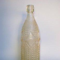Botellas antiguas - Botella gaseosa *ESPUMOSOS LA HUERTANA* 1 LT. MONTAÑANA, LETRAS EN RELIEVE, CRISTAL GRABADO - 33496242