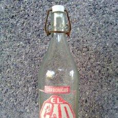 Botellas antiguas: ANTIGUA BOTELLA DE GASEOSA EL CID, AZUEBAL. 1 LITRO.. Lote 33756368