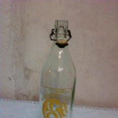 Botellas antiguas: BOTELLA DE GASEOSA MARCA LAGE DE MACEDA (ORENSE). Lote 33791583