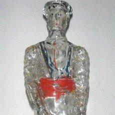 Botellas antiguas: BOTELLA DE VIDRIO FORMA DE TORERO 31 CM. ALTURA. Lote 33898455