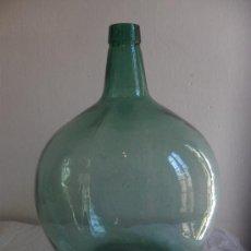 Botellas antiguas: BOTELLA DE GARRAFA CRISTAL VERDE ALTO 40. Lote 34037353