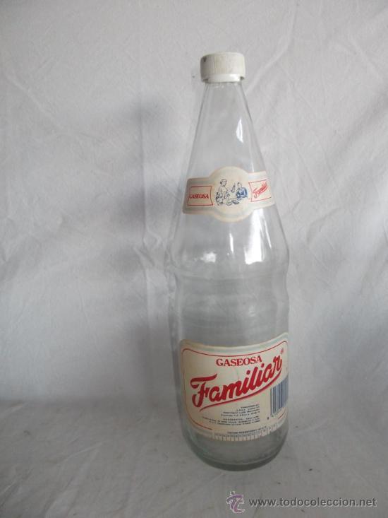 BOTELLA GASEOSA FAMILIAR 1 LITRO (Coleccionismo - Botellas y Bebidas - Botellas Antiguas)