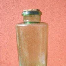 Botellas antiguas: GRAN BOTELLÓN DE CRISTAL VERDE. LOUIT HERMANOS CIA. SAN SEBASTIAN. TAPA DE CORCHO. Lote 34322385