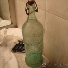 Botellas antiguas: CURIOSA Y ANTIGUA BOTELLA GASEOSA. Lote 35360991