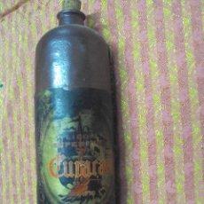 Botellas antiguas: ANTIGUA BOTELLA DE CURAÇAO EN BARRO. Lote 35426731