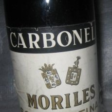 Botellas antiguas: CARBONELL MORILES SOLERA FINA 1ª. Lote 35432141