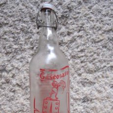 Botellas antiguas: BOTELLA GASEOSA LITRO MARCA : FEIJOO DE VIGO - LA DE LA FOTO, SUPERFICIE PIEL NARANJA. Lote 229398455