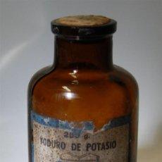 Botellas antiguas: FRASCO DE FARMACIA YODURO DE POTASIO LABORATORIOS GALENO. Lote 35534950
