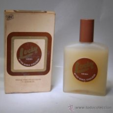 Botellas antiguas: FRASCO AFTER SHAVE EMULSION LUCKY COLONIA // MUY ANTIGUO. Lote 106083835