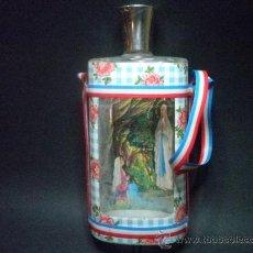 Botellas antiguas: BOTELLA DE CRISTAL - JE SUIS L'INMACULEE CONCEPTION. Lote 37184956
