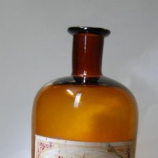 Botellas antiguas: FRASCO DE FARMACIA DE ALCOHOL ABSOLUTO DE DESTILERIAS ADRIAN KLEIN. Lote 52955882