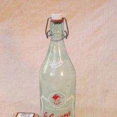 Botellas antiguas: BOTELLA DE GASEOSA LA CASERA. Lote 36078402