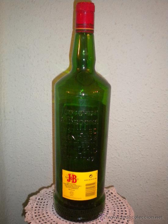 Botellas antiguas: Botellón vacio whisky JB - Foto 3 - 268569289