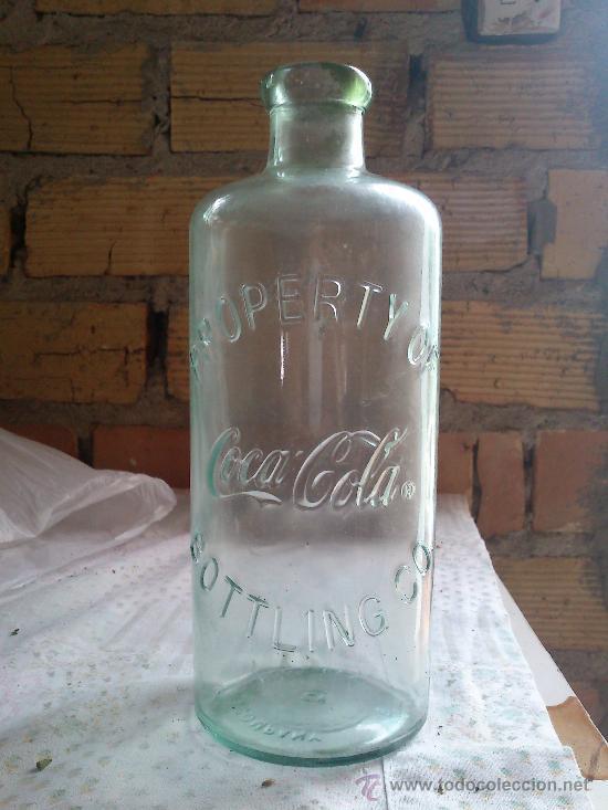 BOTELLA DE CRISTAL DE COCACOLA (Botellas y Bebidas - Botellas Antiguas)
